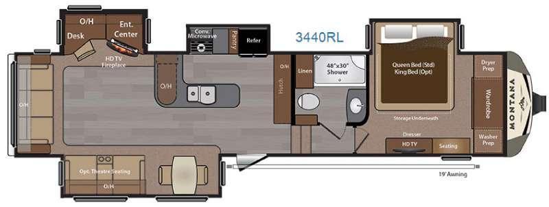 Montana 3440 RL Floorplan Image