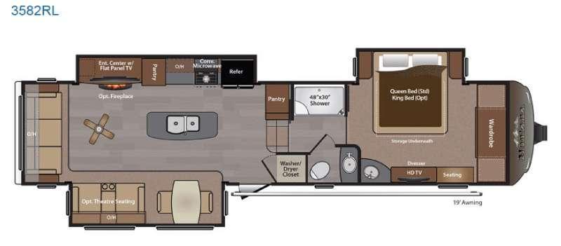 Montana 3582 RL Floorplan Image