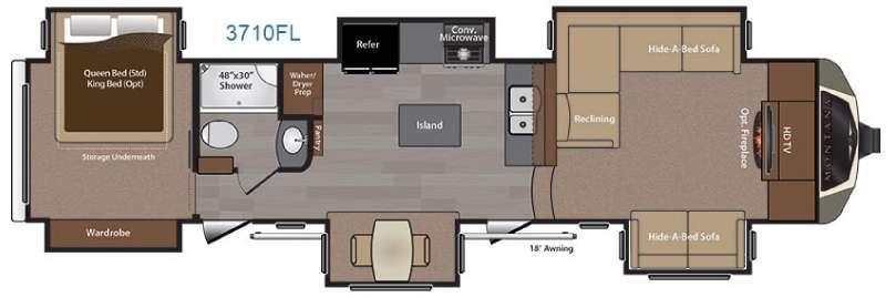 Montana 3710 FL Floorplan Image