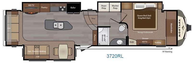 Montana 3720 RL Floorplan Image