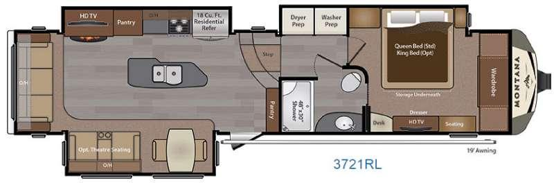 Montana 3721 RL Floorplan Image