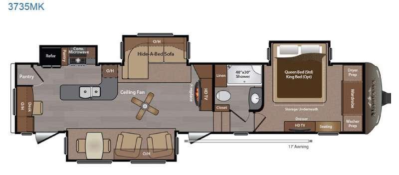 Montana 3735 MK Floorplan Image