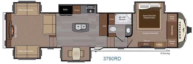 Montana 3790 RD Floorplan Image