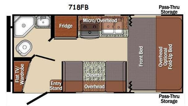 Floorplan - 2016 Gulf Stream RV Matrix 718FB