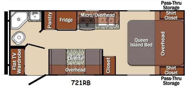 Floorplan - 2016 Gulf Stream RV Matrix 721RB