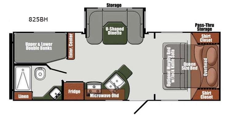 Floorplan - 2016 Gulf Stream RV Matrix 825BH