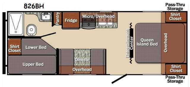 Floorplan - 2016 Gulf Stream RV Matrix 826BH
