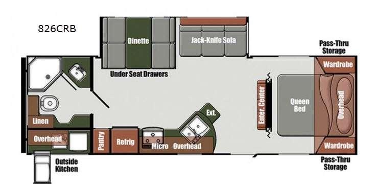Floorplan - 2016 Gulf Stream RV Matrix 826CRB