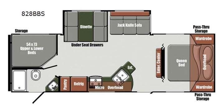 Floorplan - 2016 Gulf Stream RV Matrix 828BBS