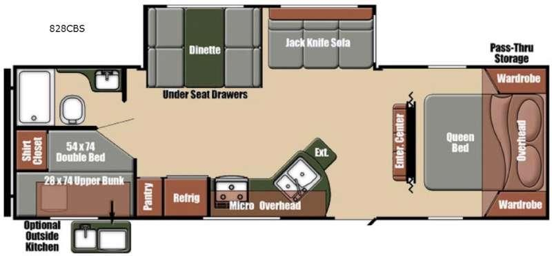 Floorplan - 2016 Gulf Stream RV Matrix 828CBS