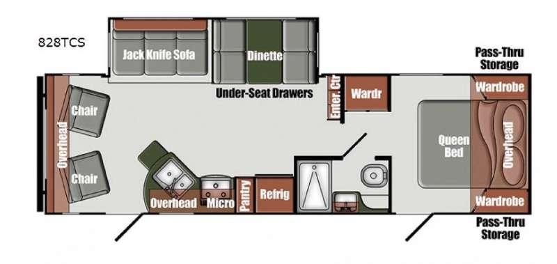 Floorplan - 2016 Gulf Stream RV Matrix 828TCS