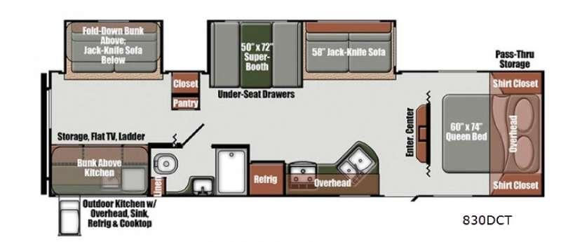 Floorplan - 2016 Gulf Stream RV Matrix 830DCT