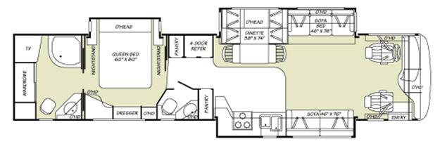 Floorplan - 2007 Fleetwood RV Providence 40E