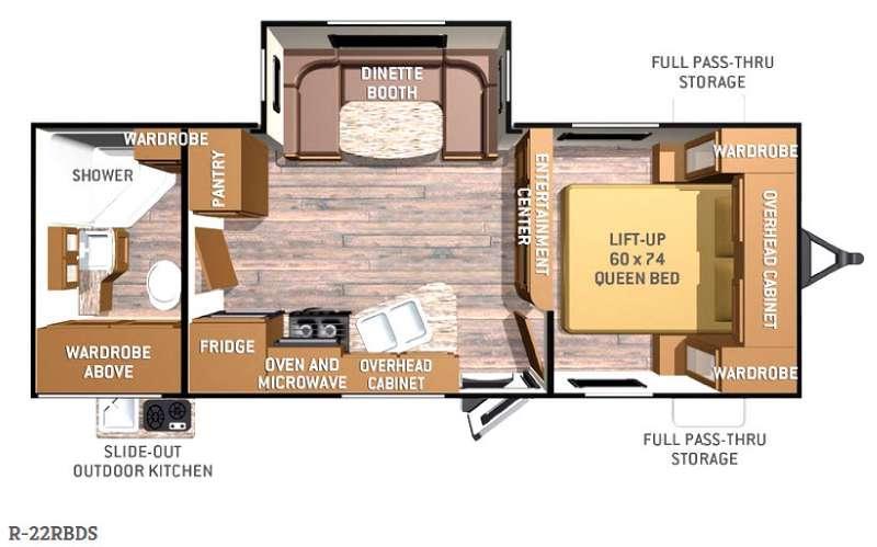 Radiance R-22RBDS Floorplan Image