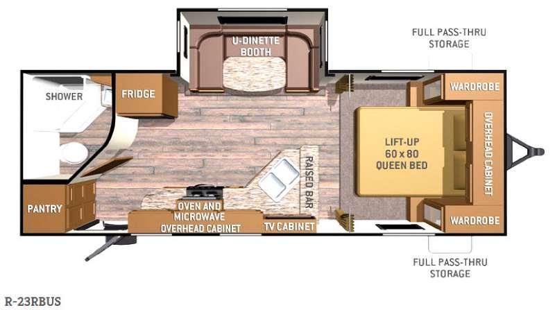 Radiance R-23RBUS Floorplan Image
