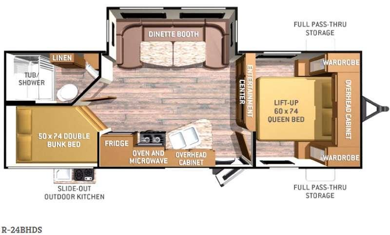 Radiance R-24BHDS Floorplan Image