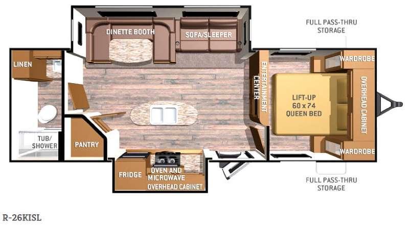 Radiance R-26KISL Floorplan Image