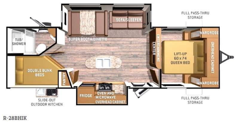 Radiance R-28BHIK Floorplan Image