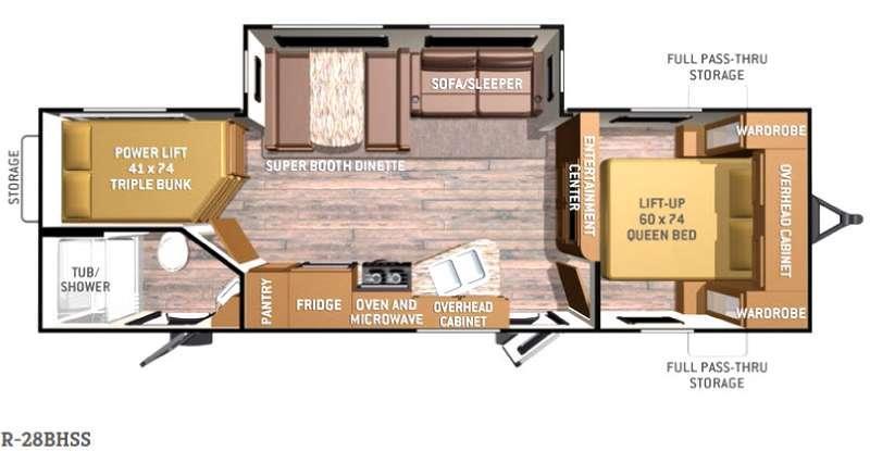 Radiance R-28BHSS Floorplan Image