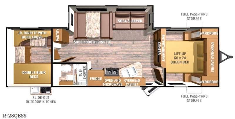 Radiance R-28QBSS Floorplan Image