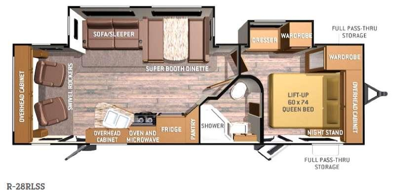 Radiance R-28RLSS Floorplan Image