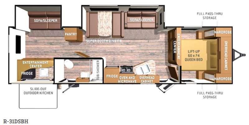 Floorplan - 2016 Cruiser Radiance R-31DSBH