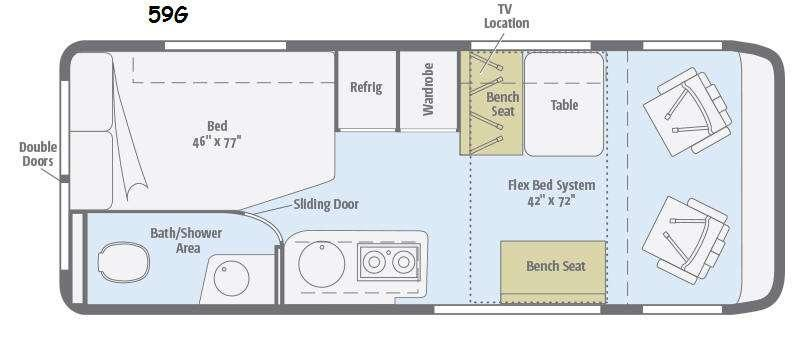 Floorplan - 2016 Travato 59G Motor Home Class B