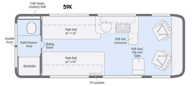 Floorplan - 2016 Winnebago Travato 59K