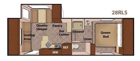 Floorplan - 2015 Livin Lite CampLite 28 RLS