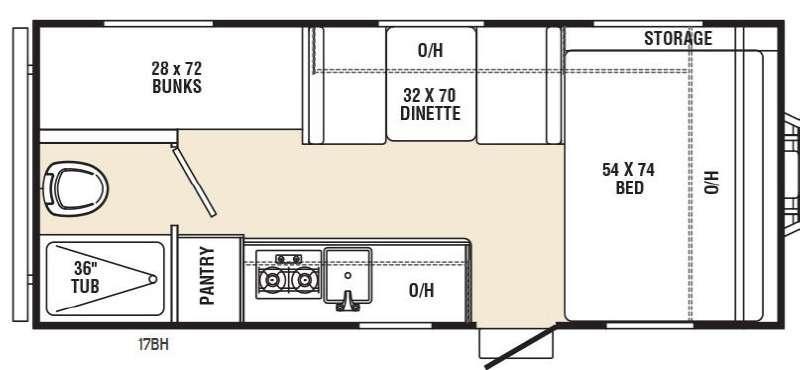 Floorplan - 2016 Coachmen RV Viking Ultra-Lite 17BH