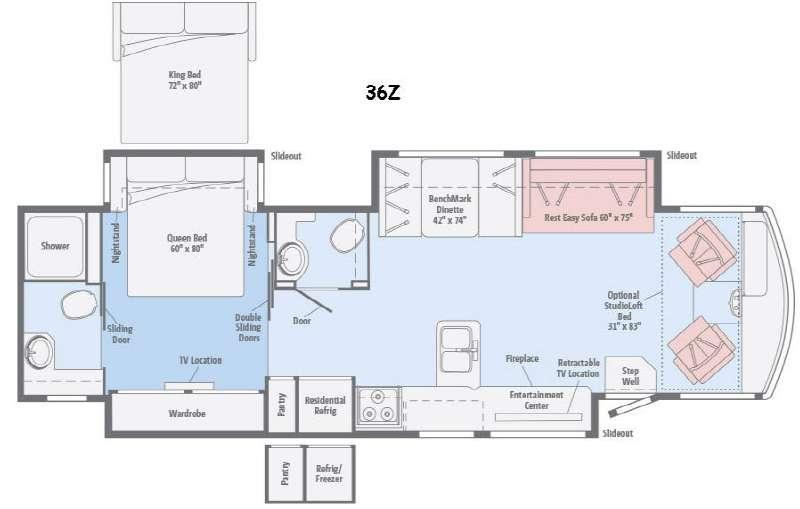 Floorplan - 2016 Winnebago Sightseer 36Z