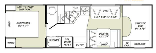 Floorplan - 2007 Fleetwood RV Jamboree 29V