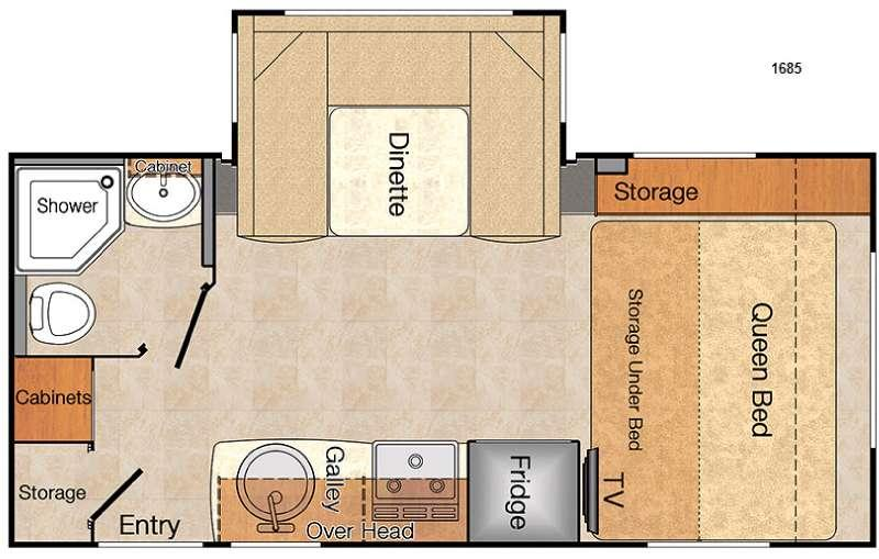 Floorplan - 2016 Lance Travel Trailers 1685