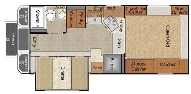 Floorplan - 2016 Lance 1050S