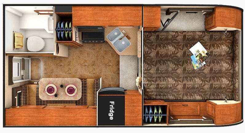 Floorplan - 2016 Lance 850 Truck Camper