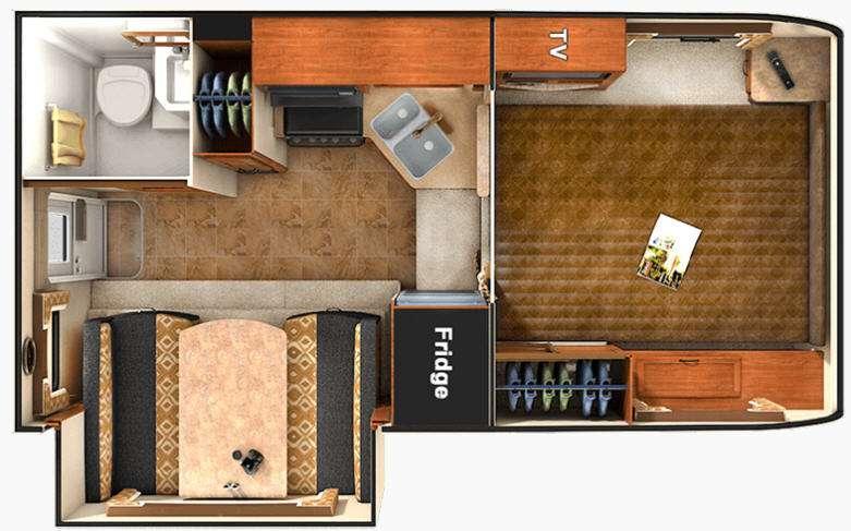 Floorplan - 2016 Lance 855S