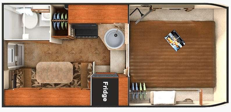 Floorplan - 2016 Lance 865 Truck Camper