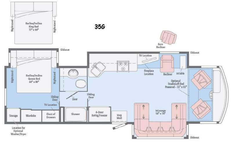 Floorplan - 2016 Itasca Sunova 35G