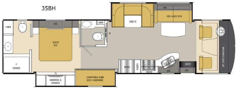 Floorplan - 2016 Coachmen RV Mirada 35BH