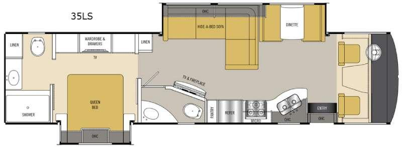 Floorplan - 2016 Coachmen RV Mirada 35LS
