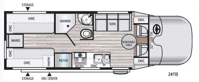 Floorplan - 2016 Dynamax REV 24TB
