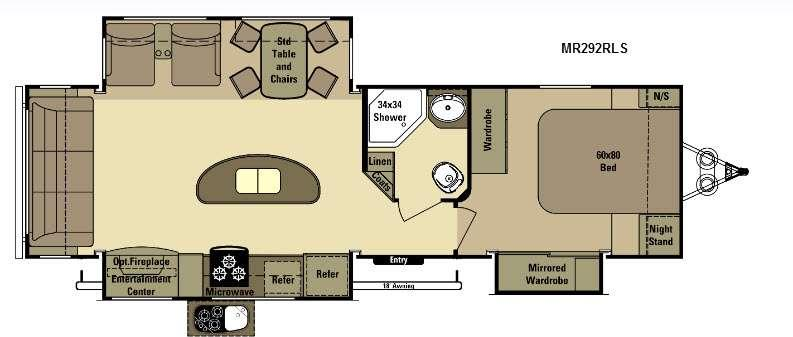Floorplan - 2015 Open Range RV Mesa Ridge MR292RLS