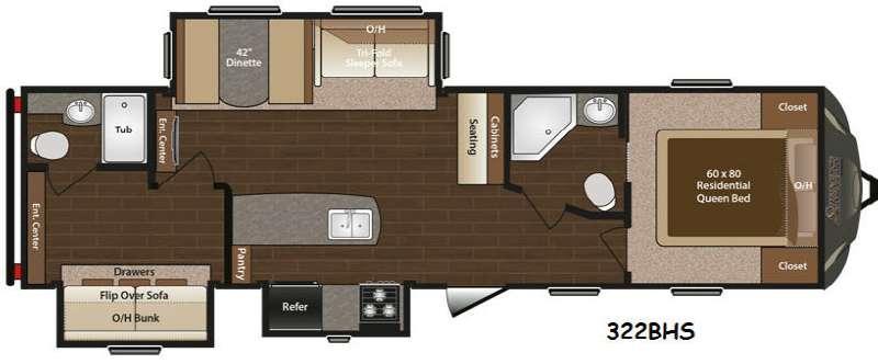 Floorplan - 2016 Keystone RV Sprinter 322BHS
