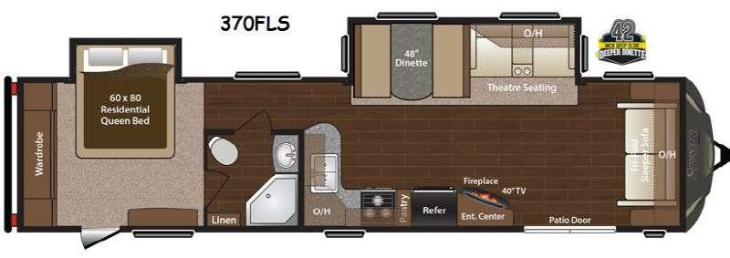 Floorplan - 2016 Keystone RV Sprinter 370FLS