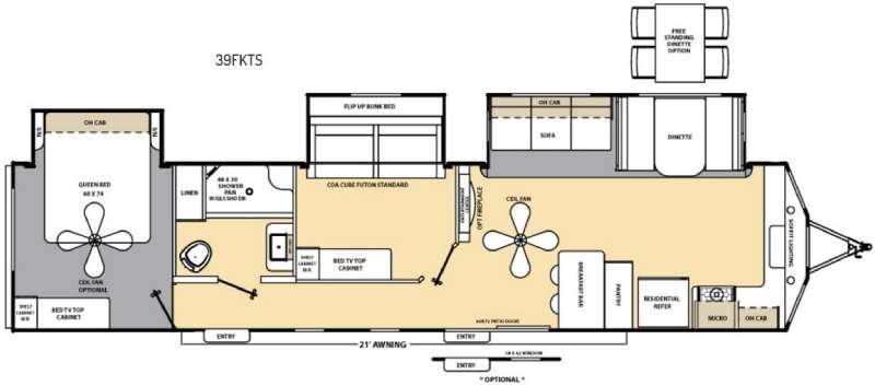 Floorplan - 2016 Coachmen RV Catalina Destination Series 39FKTS