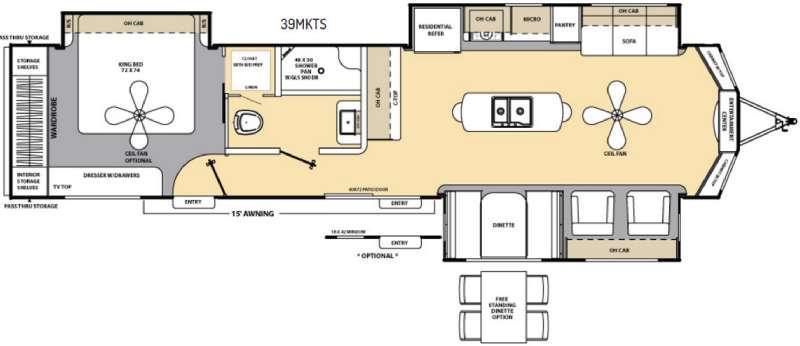 Floorplan - 2016 Coachmen RV Catalina Destination Series 39MKTS