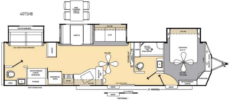 Floorplan - 2016 Coachmen RV Catalina Destination Series 40TSHB