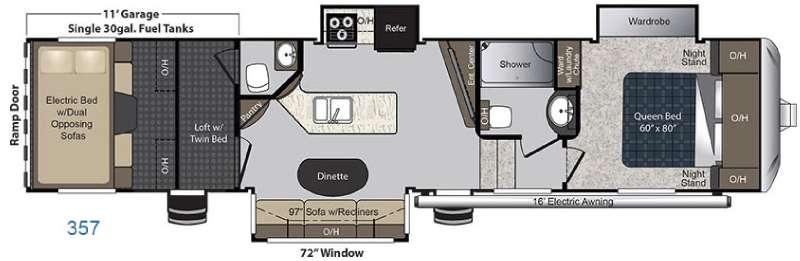 Floorplan - 2016 Keystone RV Carbon 357
