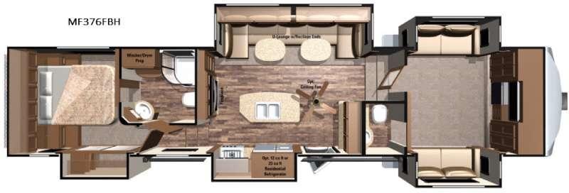 Floorplan - 2016 Highland Ridge RV Mesa Ridge MF376FBH