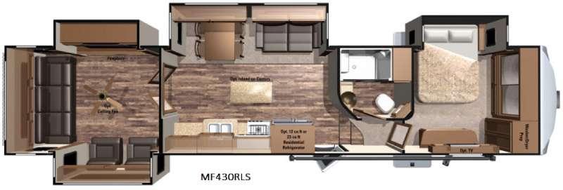 Floorplan - 2016 Highland Ridge RV Mesa Ridge MF430RLS